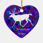 Personalize This White Reindeer Caribou Ornament