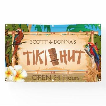 DesignsbyDonnaSiggy Personalize Tiki Hut in Paradise Design Banner