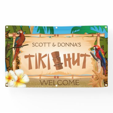 DesignsbyDonnaSiggy Personalize Tiki Hut in Paradise Welcome Design Banner