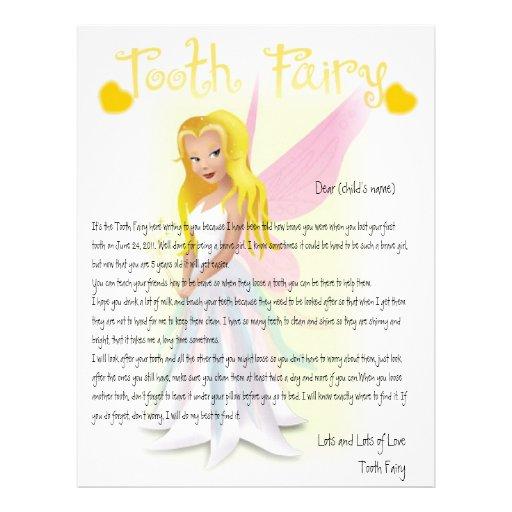 Personalize Tooth Fairy Magic Letterhead Zazzle