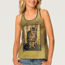 Personalize: Tortoiseshell Cat Animal Photo Tank Top