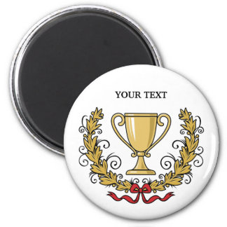Personalize Trophy Cup 2 Inch Round Magnet