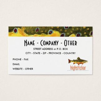 Personalize Trout FishiNG Business Card