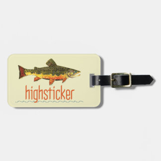 Personalize Trout FishiNG Bag Tags