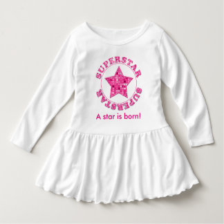 """Personalize:  Typography of """"Superstar"""" Fuchsia T-shirts"""