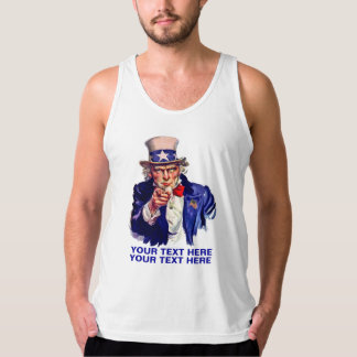 Personalize Uncle Sam Tanktop