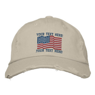 Personalize USA Stars 'n Stripes Embroidered Cap