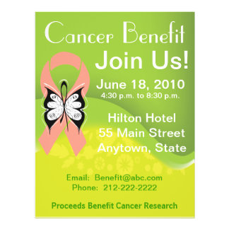 Personalize Uterine Cancer Fundraising Benefit Flyer
