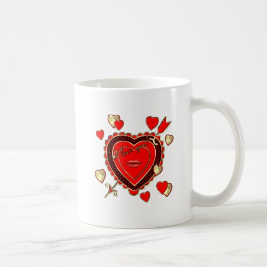 PERSONALIZE Valentine's Day Hearts and Arrow Coffee Mug