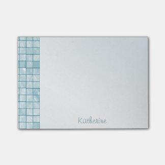 Personalize Variegated Aqua Decorative Tile Post-it® Notes