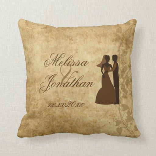 Personalize Vintage Wedding Bride Groom PLdesign Throw