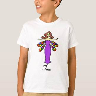 Personalize W/Any Name Redhead Dragonfly Fairy T-Shirt