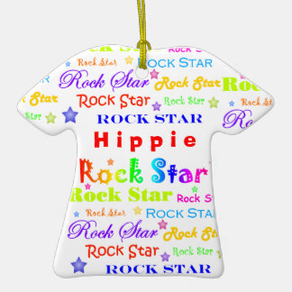 Personalize W/Any Name Rock Star Christmas Ornaments