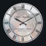 "Personalize Wedding Anniversary (Your Photo) Large Clock<br><div class=""desc"">Personalize Wedding Anniversary (Your Photo) Clock. Don't forget to change photo,  anniversary years,  couples first name and anniversary date.</div>"