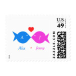 Personalize Wedding Fish Postage