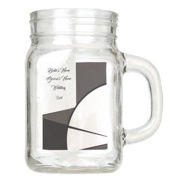 Personalize Wedding Mason Jar