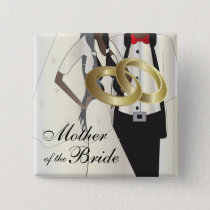 Personalize Wedding Party and Family Members Pinback Button