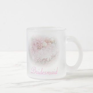 PERSONALIZE WEDDING PARTY GIFTS FROSTED FROSTED GLASS COFFEE MUG