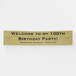 Personalize: Welcome to my 100th Birthday Party Banner