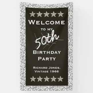 Personalize: Welcome to my 50th Birthday Party Banner