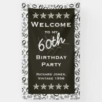 Personalize: Welcome to my 60th Birthday Party Banner
