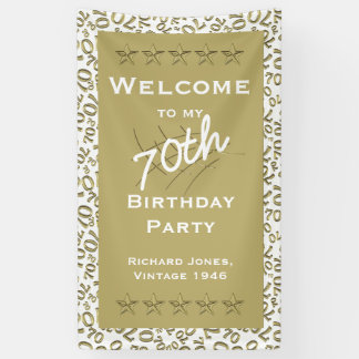 Personalize: Welcome to my 70th Birthday Party Banner