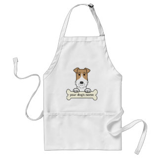 Personalize Wire Fox Terrier Apron