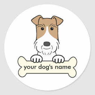 Personalize Wire Fox Terrier Classic Round Sticker