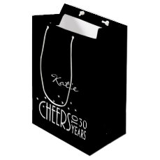 Personalize with Any Age Cheers Paper Gift Bag