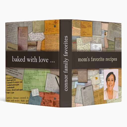 Personalize with mom's photo recipe binder