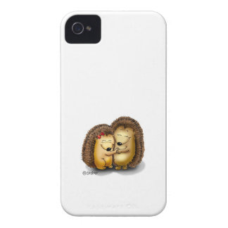 Personalize with name - Hugging Hedgehogs iPhone 4 Covers