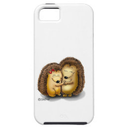 Personalize with name - Hugging Hedgehogs iPhone SE/5/5s Case