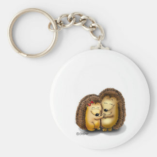 Personalize with name - Hugging Hedgehogs Keychain