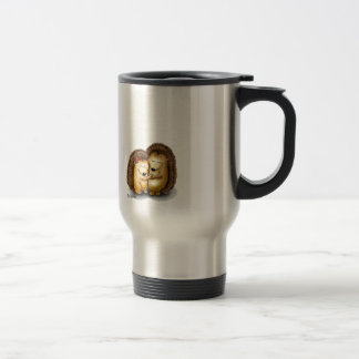 Personalize with name - Hugging Hedgehogs Travel Mug