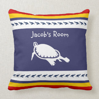 Personalize with name turtle pillow