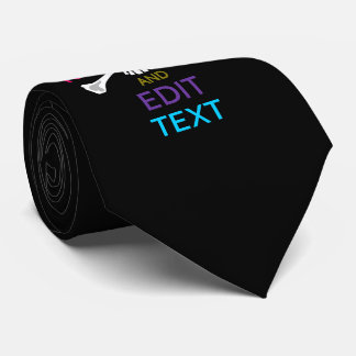 Personalize with Text Keep Calm Crossbones Skull Tie