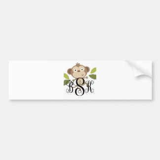 Personalize with your initials bumper stickers