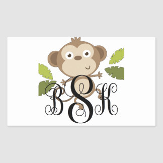 Personalize with your initials rectangle stickers