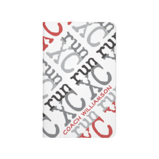 Personalize XC Run Cross Country Coach Pattern Journal