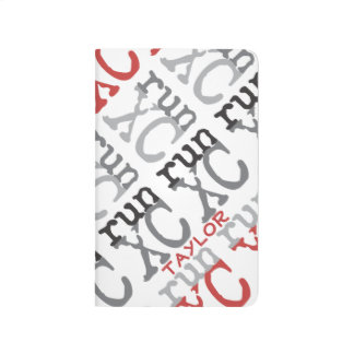 Personalize XC Run Cross Country Pattern Journal