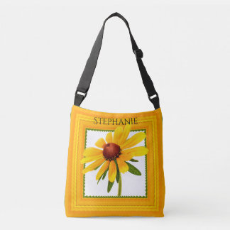 Personalize:  Yellow Black-Eyed Susan Photography Crossbody Bag
