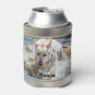 Personalize:  Yellow Labrador Photo Framed Can Cooler