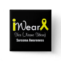 Personalize Yellow Ribbon Sarcoma Pinback Button