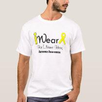 Personalize Yellow Ribbon Sarcoma T-Shirt
