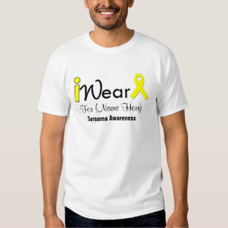 Personalize Yellow Ribbon Sarcoma Tee Shirt