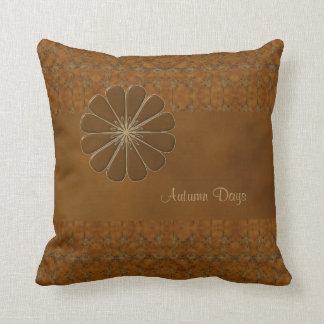 Personalize Your Autumn Days Throw Pillow