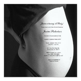 Personalize your Baby Bump, Custom Tummy Writting Invitation