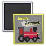 Personalize your Childs Artwork 2 Inch Square Magnet