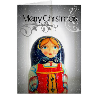 Personalize your Christmas in Russia Card