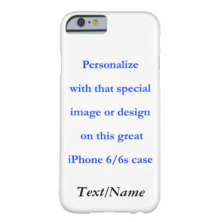 (Personalize) Your Custom Design or Image Barely There iPhone 6 Case